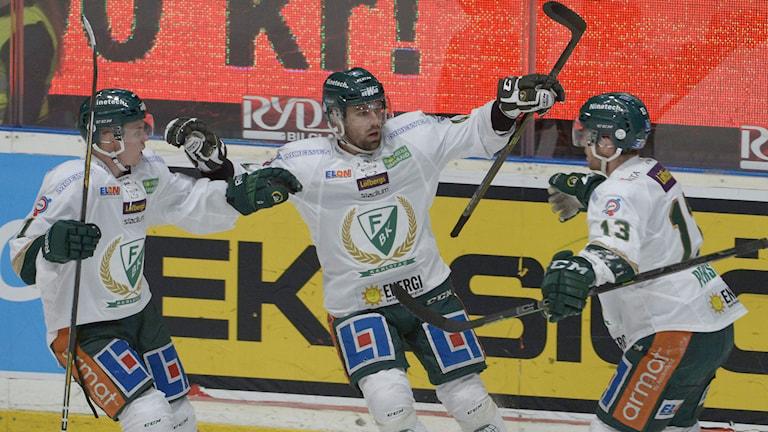 Milan Gulas gjorde två mål i Färjestads kross. Foto: Janerik Henriksson/TT