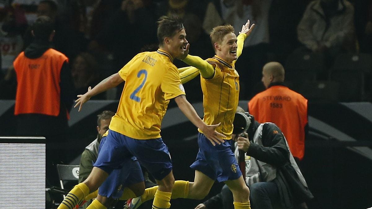 Rasmus Elm efter 4-4-målet mot Tyskland