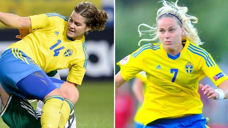 Folkesson och Dahlkvist. Foto: TT Nyhetsbyrån