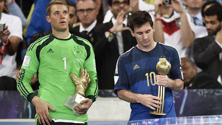 VM 2014  Manuel Neuer Leo Messi Foto: Martin Meissner/TT