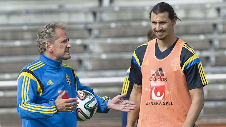 Erik Hamrén och Zlatan Ibrahimovic