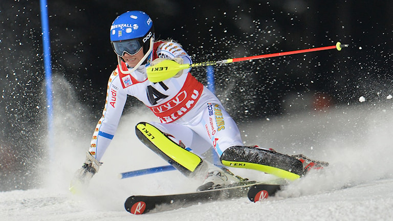 Frida Hansdotter i Flachau. Foto: Kerstin Joensson/AP/TT