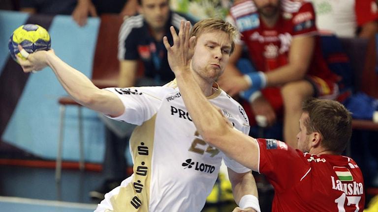 Aron Palmarsson i Kiel-tröjan. Foto: MTI, Aniko Kovacs/AP/TT