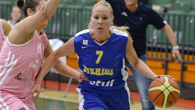 Agnes Nordström i landslagströjan 2013. Foto: Janerik Henriksson/TT