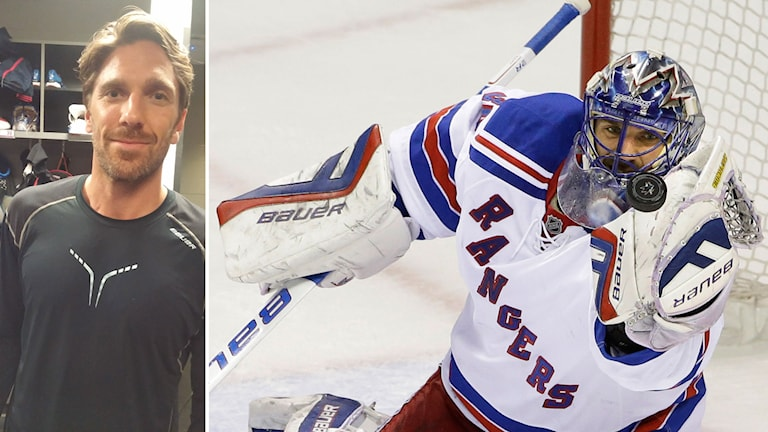 New York Rangers Henrik Lundqvist. Foto: Annika Greder Duncan/SR och Marcio Jose Sanchez/AP.