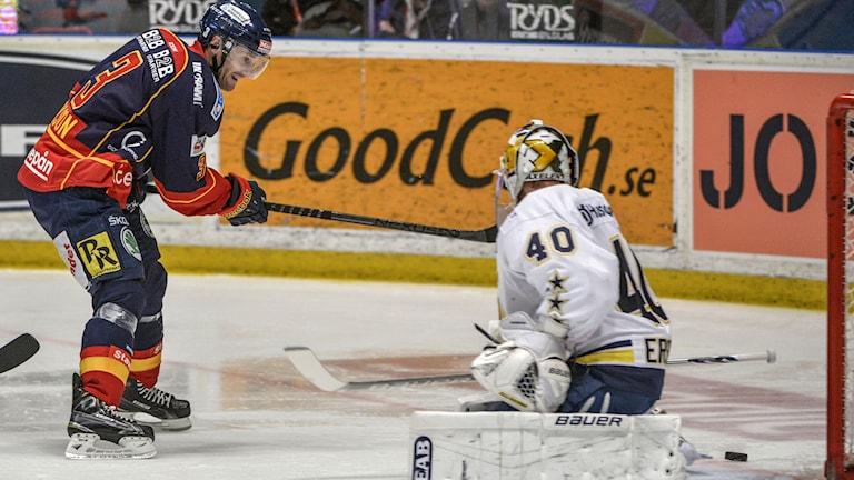 Marcus Nilson gjorde ett mål och en assist mot HV71. Foto:Marcus Eriksson/TT