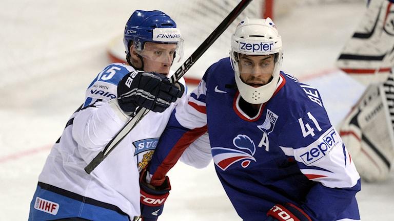 Finlands Juha-Pekka Haataja i ishockey-VM 2013. Foto: Martti Kainulainen / AP