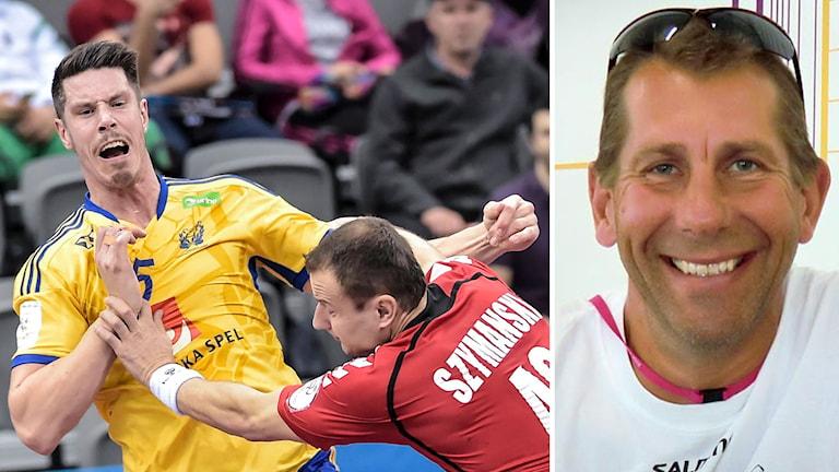 Magnus Wislander hyllar Kim Andersson. Foto: TT/SR