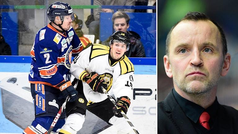 Det blev förlust för Brynäs mot Växjö i Thomas Berglunds debutmatch som tränare. Foto: Mikael Fritzon/TT