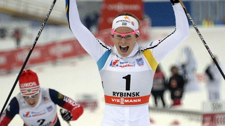 Jennie Öberg efter VC-segern i Rybinsk