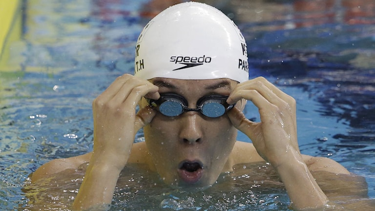 2014 Sydkoreanske simmaren Park Tae-hwan. Foto: Lee Jin-man/TT