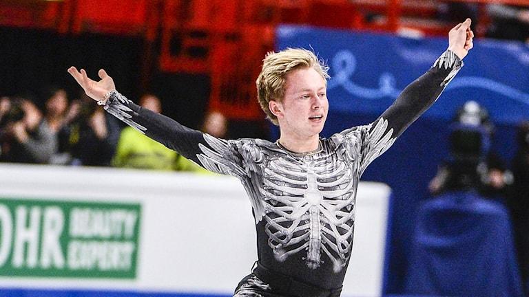 Alexander Majorov under det fria programmet. Foto: Claudio Bresciani/TT