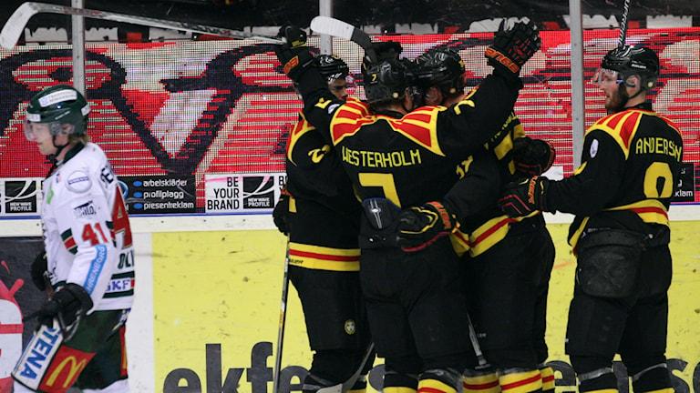 Brynäs vann med 4-2 mot Frölunda. Foto:  Foto: Mats Åstrand/TT