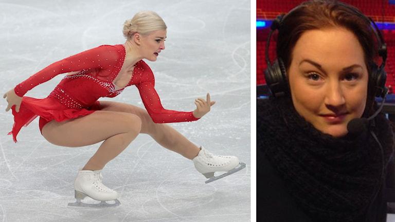 Viktoria Helgesson och Amanda Nylander. Foto: TT Nyhetsbyrån och SR