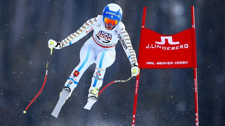 Kajsa Kling under Super-G i VM. Foto: AFP/TT