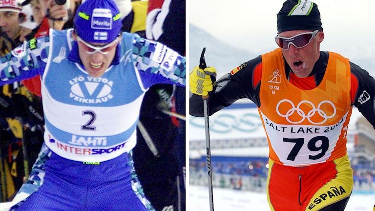Jari Isomätsä och Johann Mühlegg är två kända dopningsfall i skidsporthistorien. Foton: TT.