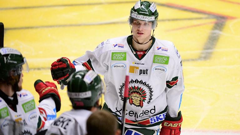 Max Görtz blev tvåmålsskytt. Foto: Robert Granström/TT