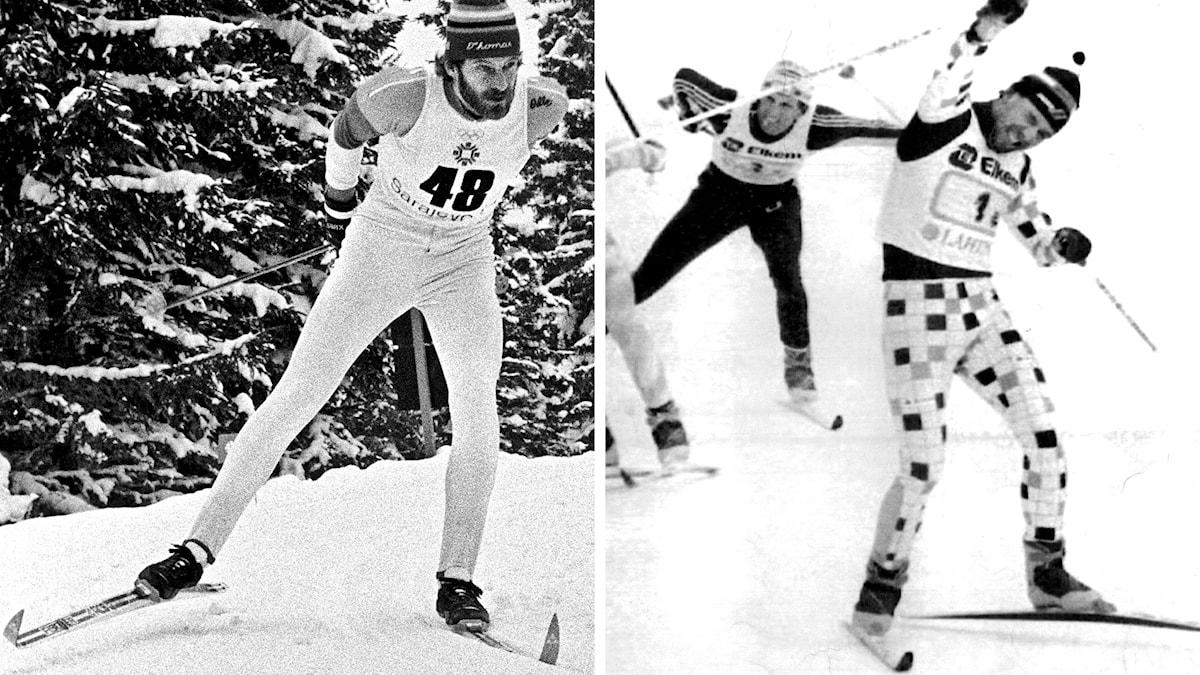 Thomas Wassberg (t.v.) 1984 och Torgny Mogren 1989. Foton: TT.