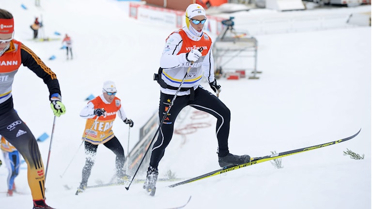 Calle Halfvarsson inför världscuptävlingen i Östersund, den sista innan VM