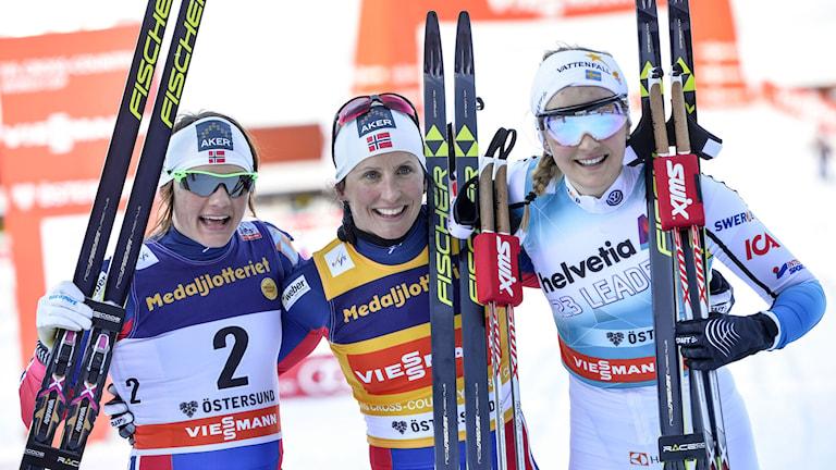 Stina Nilsson kom på pallen i Östersund. Foto: Henrik Montgomery/TT
