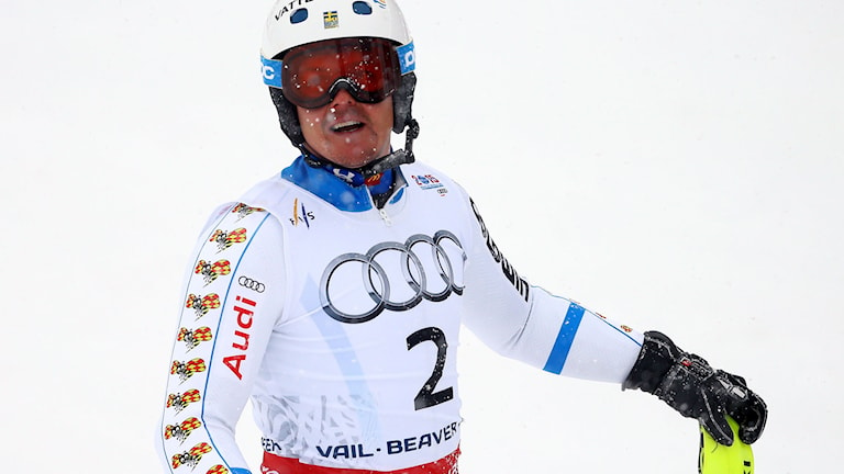 BEAVER CREEK, CO - FEBRUARY 15: Mattias Hargin of Sweden looks on after his second run during the Men's Slalom on the Birds of Prey racecourse on Day 14 of the 2015 FIS Alpine World Ski Championships on February 15, 2015 in Beaver Creek, Colorado. Al Bello/Getty Images/AFP