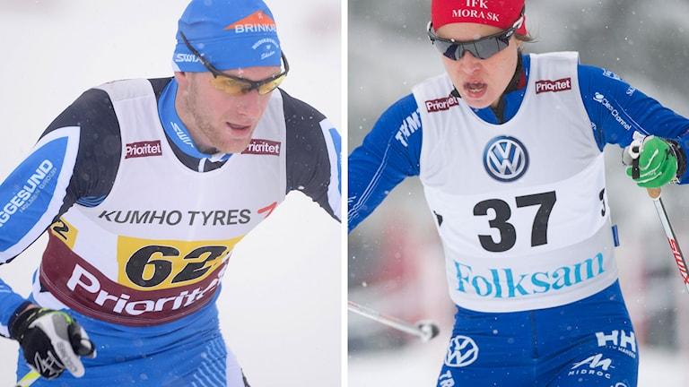 Daniel Richardsson och Anna Haag hålls isolerade inför VM i Falun. Foton: TT.