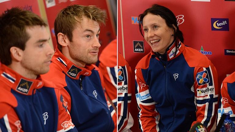 Petter Northug och Marit Björgen. Foto: Fredrik Sandberg/TT