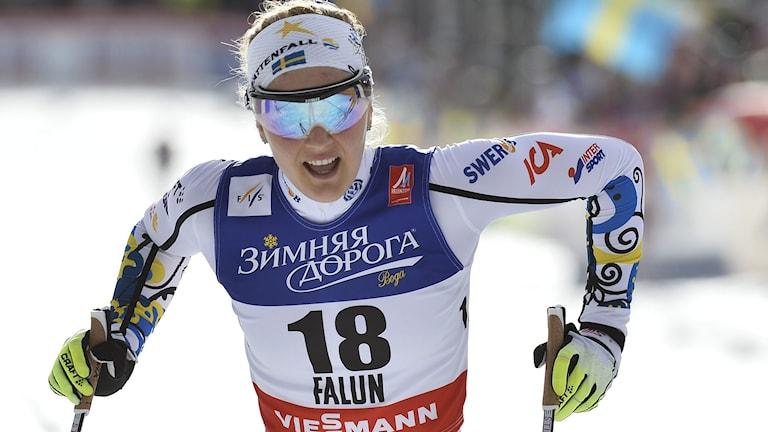 2014, Stina Nilsson vidare till kvartsfinal. Foto: TT Nyhetsbyrån