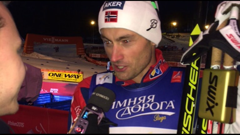 Northug intervjuas efter VM-guldet, Foto: SR