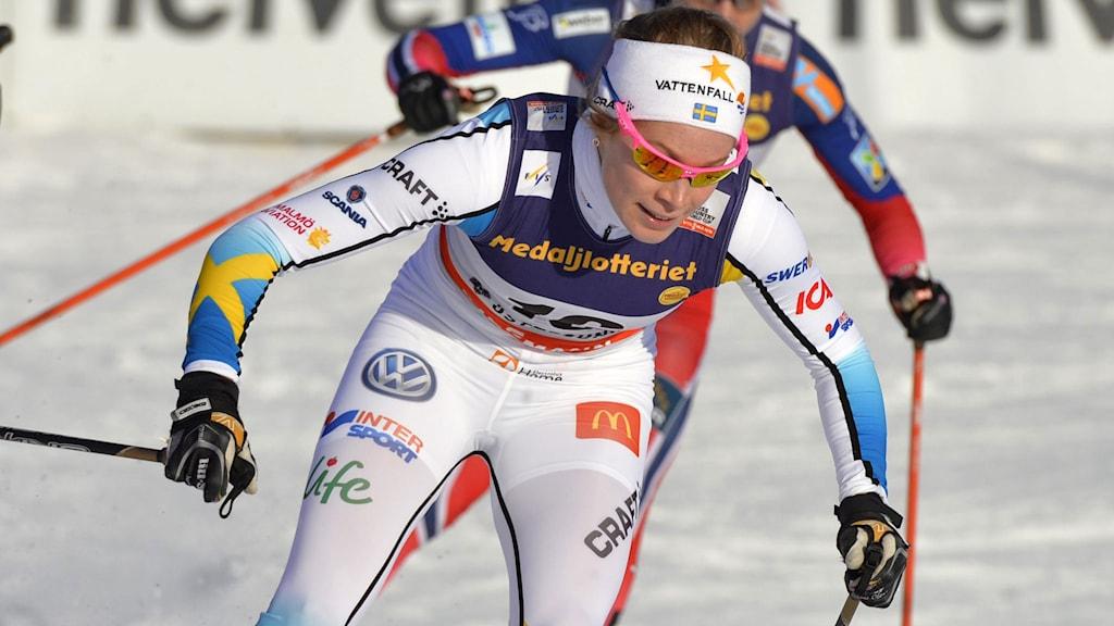 Jennie Öberg får göra VM-debut. Foto: Henrik Montgomery / TT