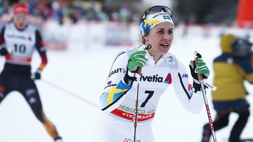 Anna Haag i världscupen tidigare i år. Foto: Heiko Junge/NTB scanpix/TT