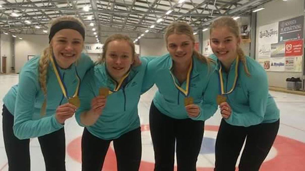Team Panthera, SM-guld i Curling, Foto: Team Panthera