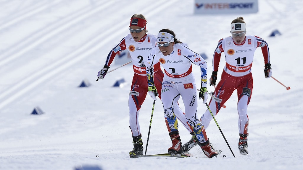Charlotte Kalla under skid-VM i Falun. Foto: Anders Wiklund/TT