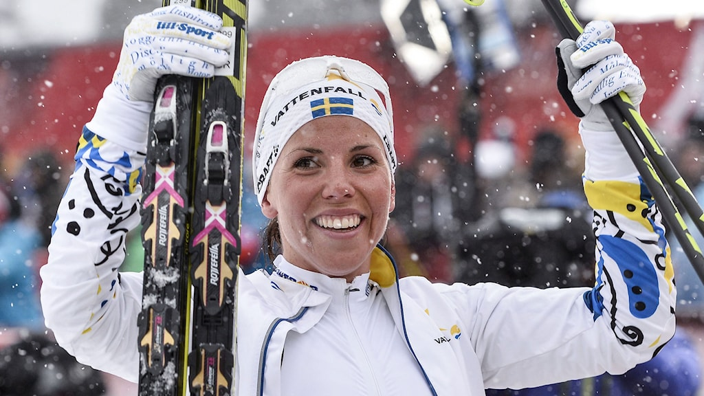 Charlotte Kalla tog VM-guld på 10 kilometer fristil. Foto: Anders Wiklund/TT