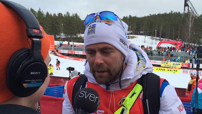 Längdskidlandslagets förbundsordförande Rikard Grip. Foto: Stefan Elofsson/Sveriges Radio.