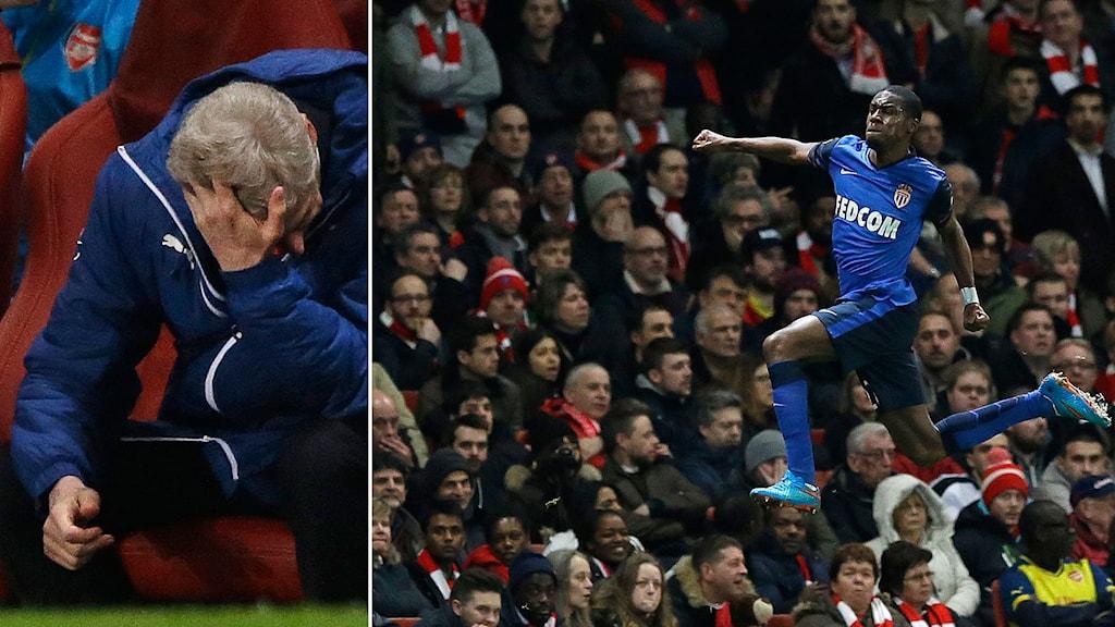 Arsene Wenger och Monacos Geoffrey Kondogbia.