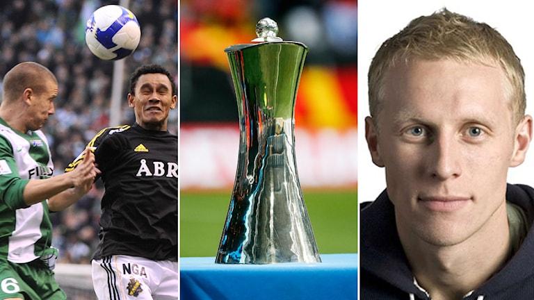 Collage om svenska cupen. Foto TT och SR