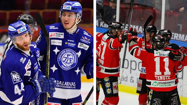 Leksand och Malmö Redhawks, Foto: TT, Collage: SR