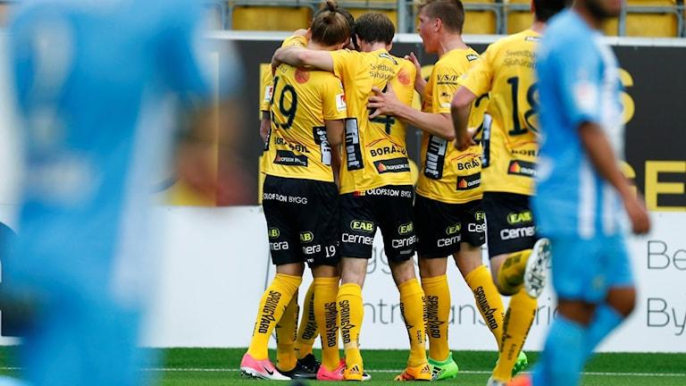 Elfsborgspelarna jublar efter segermålet