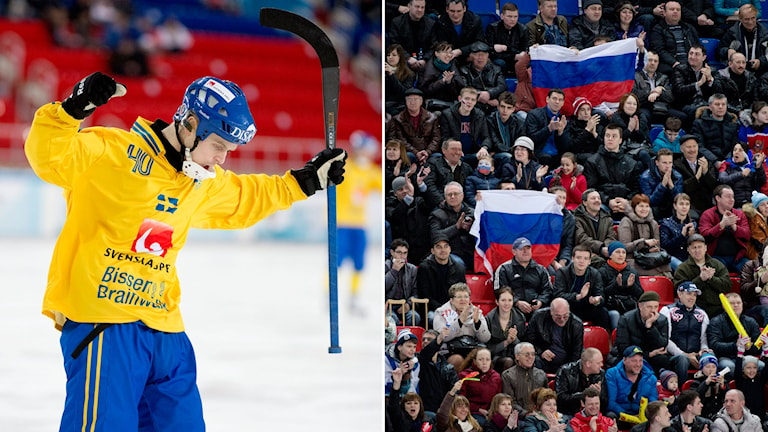 Sverige möter Ryssland. Foto: TT