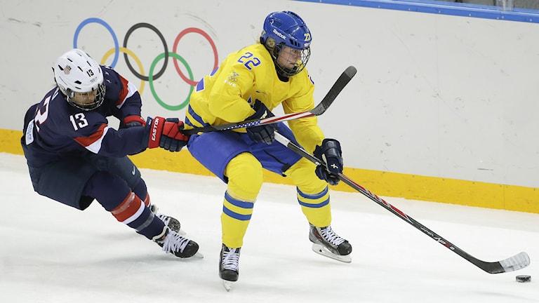 Arkvibild. Emma Eliasson som gjorde mål för Luleå. Foto: Matt Slocum/AP/TT