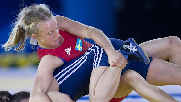 Sofia Mattsson under VM i brottning 2014. Foto: Björn Larsson Rosvall/TT