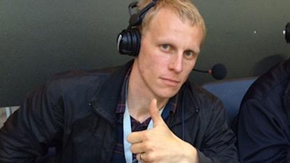 Radiosportens fotbollsexpert Richard Henriksson. Foto: Johnny Byström/Sveriges Radio