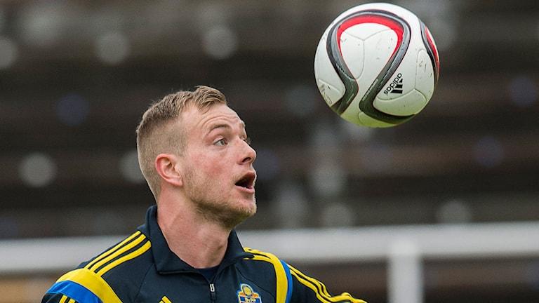 John Guidetti i det svenska U21-landslaget. Foto: Jonas Ekströmer/TT