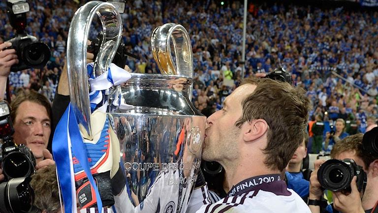 Petr Cech efter Champions League-segern 2012