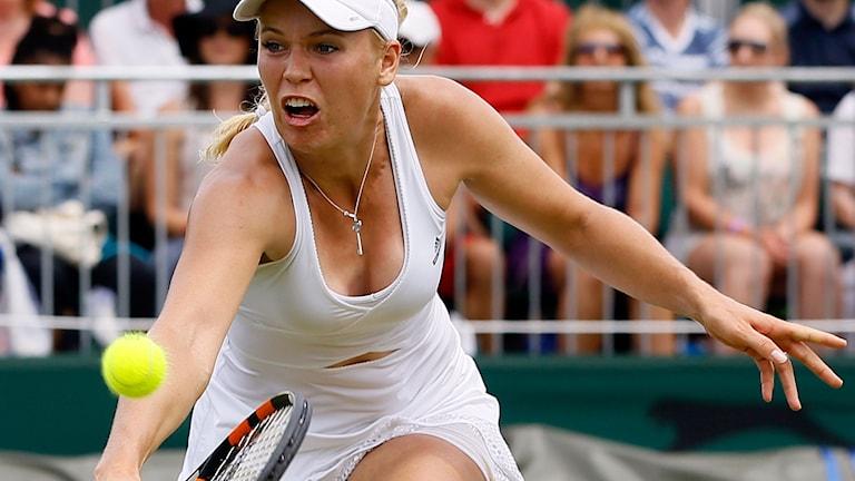 20150702 Caroline Wozniacki är klar för tredje omgången i Wimbledon. Kirsty Wigglesworth/TT.