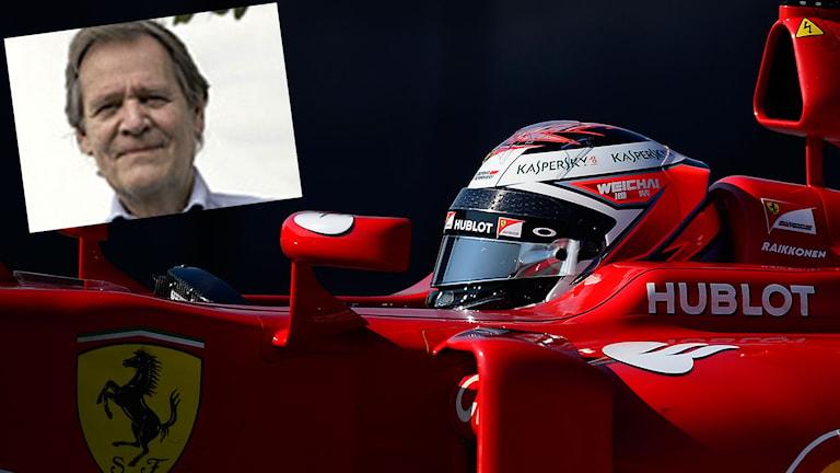 Kimi Räikkönen och infälld Fredrik af Petersens