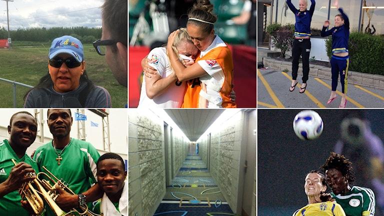 Collage fotbolls-VM 2015 A till Ö. Foto: TT och SR