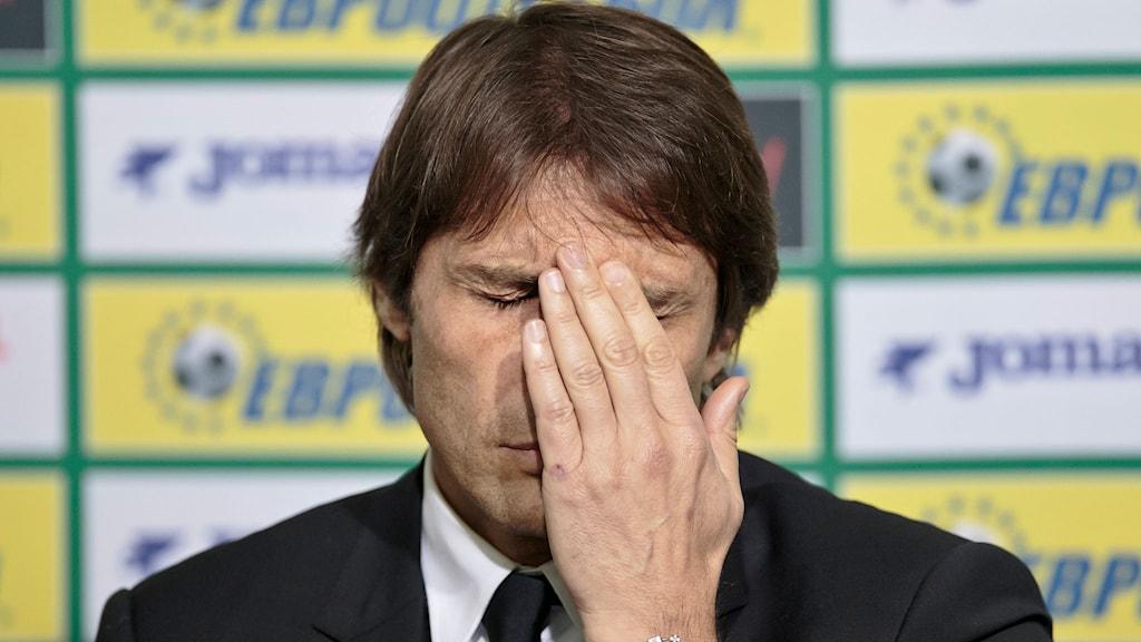 Italiens förbundskapten Antonio Conte. Foto: AP Photo/Vadim Ghirda/TT