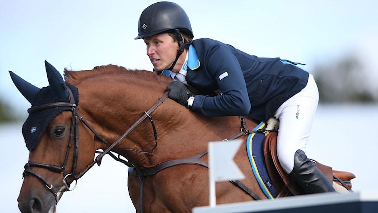 Douglas Lindelöw på hästen Casello under Falsterbo Horse Show. Foto: Andreas Hillergren/TT